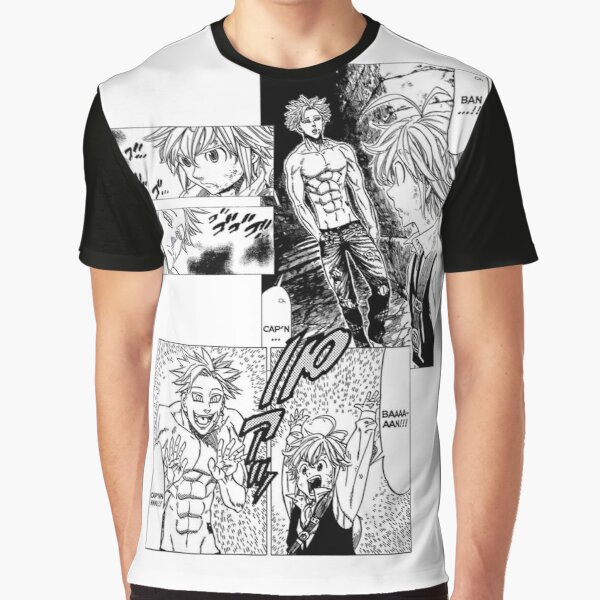 Ban and Meliodas Meet - Manga Graphic T-Shirt RB1606 product Offical The Seven Deadly Sins Merch