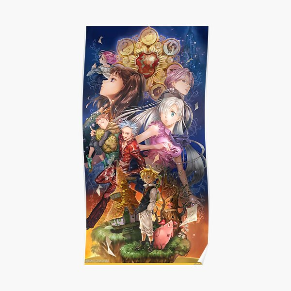 The Seven Deadly Sins Poster RB1606 product Offical The Seven Deadly Sins Merch