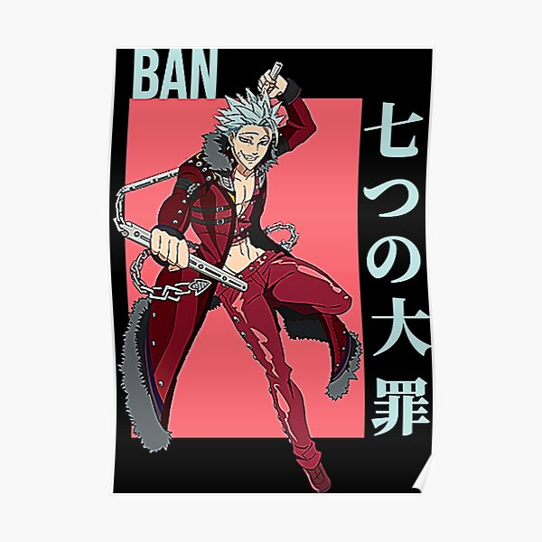 Ban - Seven Deadly Sins anime  Poster RB1606 product Offical The Seven Deadly Sins Merch