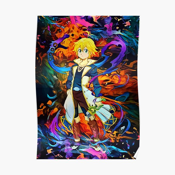 colorful Dragons Sin Poster RB1606 product Offical The Seven Deadly Sins Merch