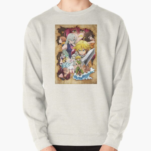 The Seven Deadly Sins - poster Pullover Sweatshirt RB1606 product Offical The Seven Deadly Sins Merch
