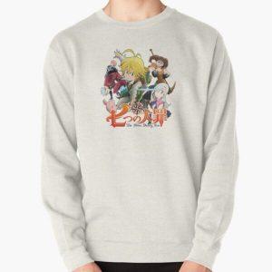 The Seven Deadly Sins anime logo Pullover Sweatshirt RB1606 product Offical The Seven Deadly Sins Merch