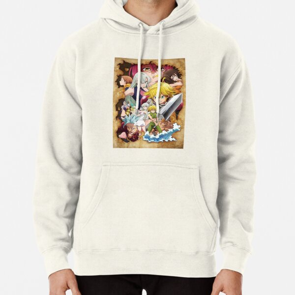 The Seven Deadly Sins - poster Pullover Hoodie RB1606 product Offical The Seven Deadly Sins Merch