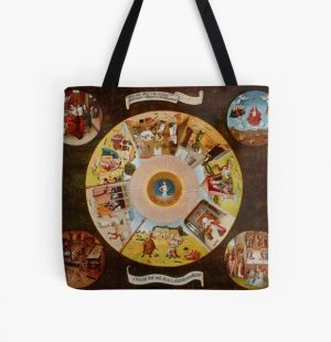"""Hieronymus Bosch """"The Seven Deadly Sins and the Four Last Things"""" All Over Print Tote Bag RB1606 product Offical The Seven Deadly Sins Merch"""