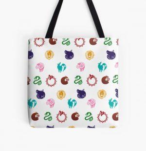 Nanatsu no Taizai Print All Over Print Tote Bag RB1606 product Offical The Seven Deadly Sins Merch