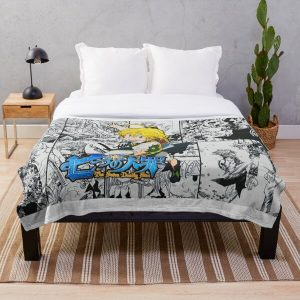 The Seven Deadly Sins - Poster Throw Blanket RB1606 product Offical The Seven Deadly Sins Merch