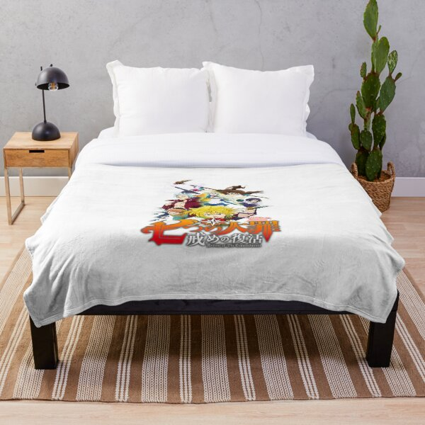 The Seven Deadly Sins - logo Throw Blanket RB1606 product Offical The Seven Deadly Sins Merch