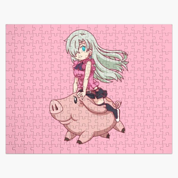 Chibi Elizabeth and Hawk Jigsaw Puzzle RB1606 product Offical The Seven Deadly Sins Merch